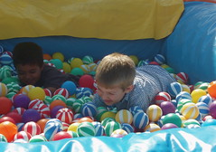child, play, ball pit, person, toy,