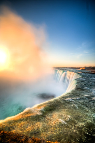blue sky mist ontario canada water niagarafalls scenic hdr