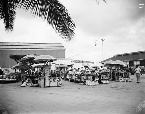 Market, Nassau, Bahamas, 1949 by The Caribbean Photo Archive