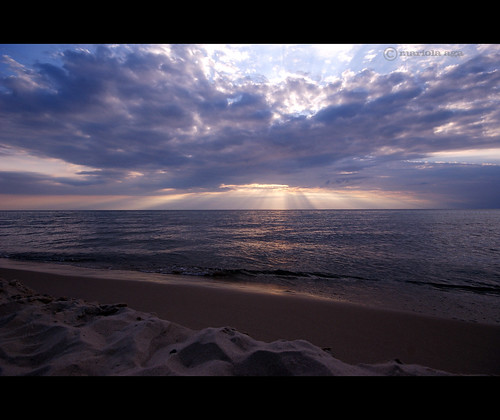 sunset summer sky sun lake beach nature water clouds sand michigan lakemichigan filter sunrays coloma thegalaxy