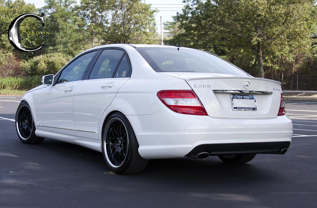 My cordon swag white benz on black rims mercedes c300 for Mercedes benz c300 black
