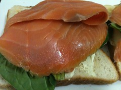 salmon, fish, lox, prosciutto, food, smoked salmon,