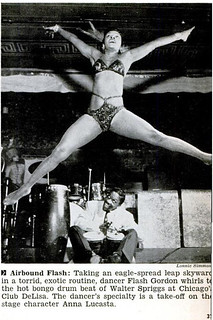 show girl at club delisa,c1940s