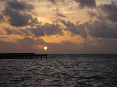 Sunrise in Ambergris Caye, Belize