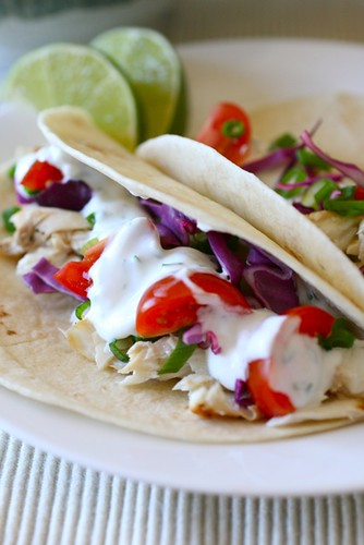 White fish tacos everyday annie for Fish taco white sauce