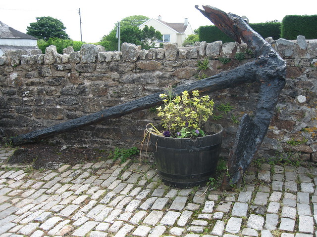Large iron anchor at Jamaica Inn