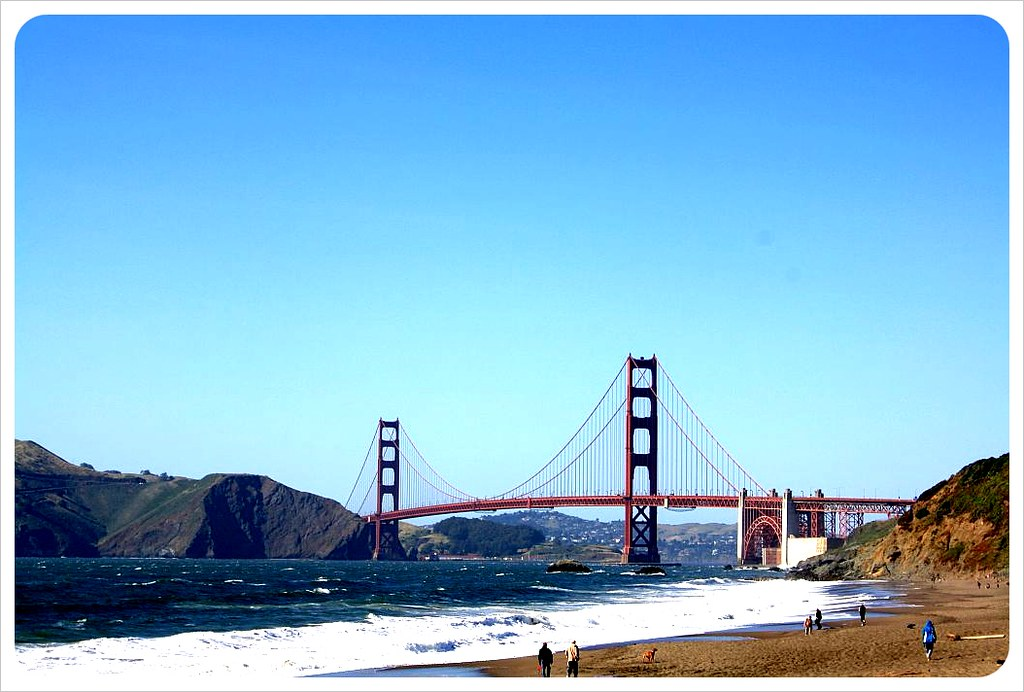 Golden Gate Bridge from Beach