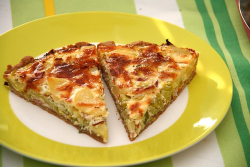 Quiche with Potatoes, Leek, Bacon & Wine