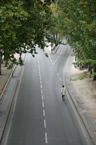 """Paris, voie Georges Pompidou, """" sans voitures """" 2"""