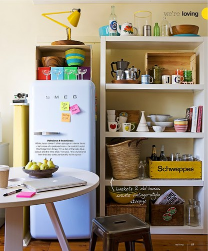 smeg + kitchen shelves via real living