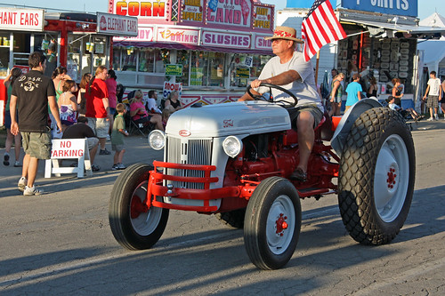 2010 Illinois State Fair Twilight Parade - Antique Tractors on Display