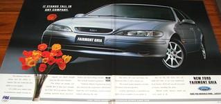 1996 Ford EF Fairmont Ghia Sedan Ad