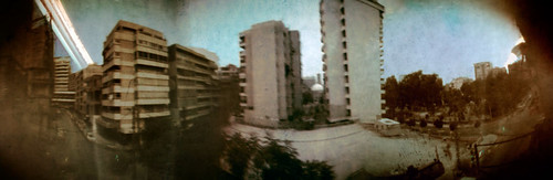 Beirut Solargraphy. 28 days from East to West