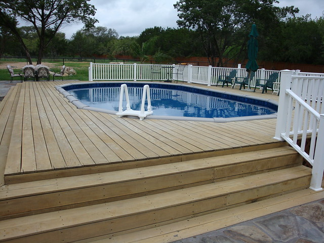 Oval Above Ground Pool With Vinyl Fencing Bexas County