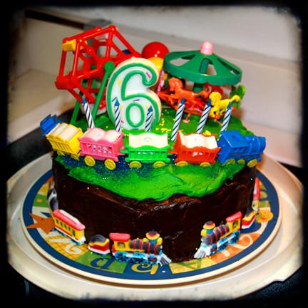 fun carnival train birthday cake for 6 year old boy ttv  Flickr ...