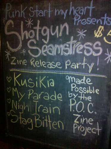 Shotgun Seamstress Zine Release Party