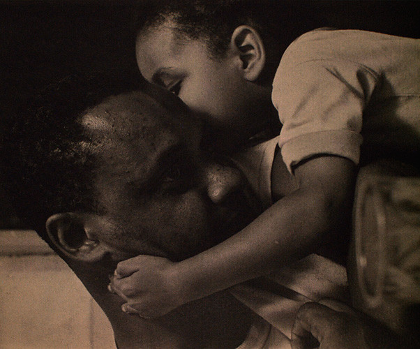 Father and child, Harlem, New York, by Roy DeCarava