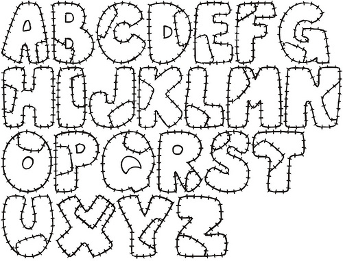 Molde de letras para Patchwork