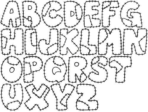 Moldes de letras para baby shower - Imagui
