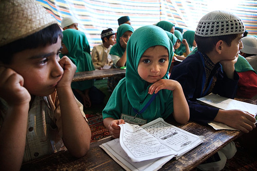 Girl in madrasah - Srinagar, India
