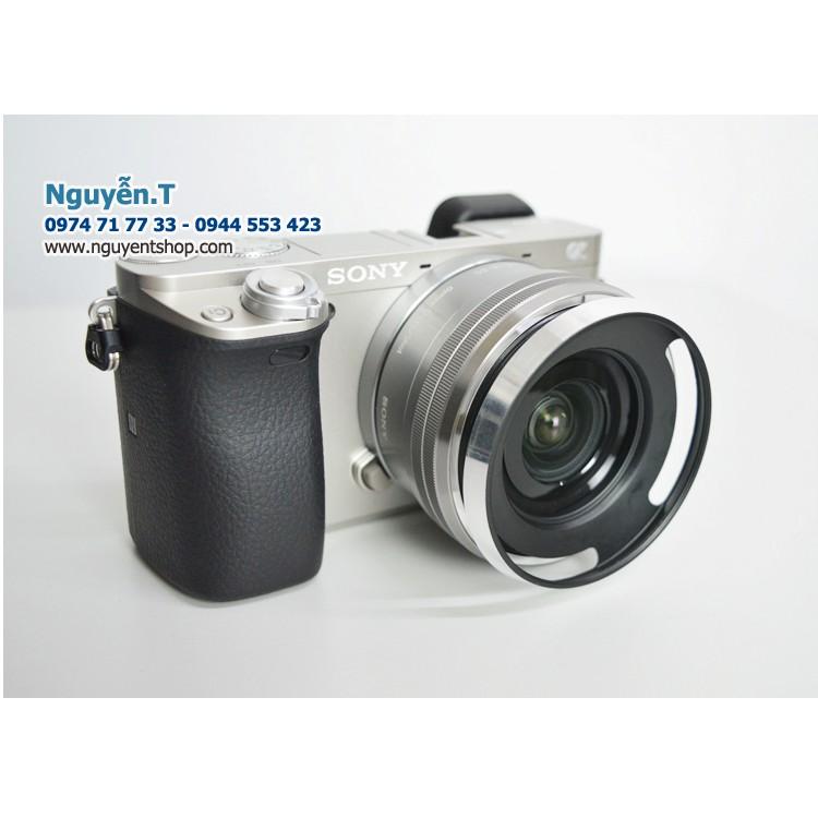 Lens hood - Loa che nắng Sony E16-50 Sony A6000 A6300 A65000 _ mạ Chrome inox