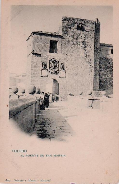 Puente de San Martín hacia 1900. Tomada por Antonio Cánovas, Kaulak
