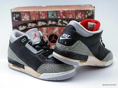 Sunshining7 - Nike Air Jordan III (3) - OG DS 1988 -Black Cement ... f685427942