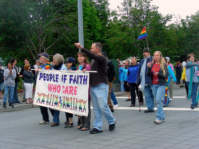People of Faith Who Care in Anchorage Pride March 2010