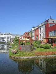 Canal, gardens