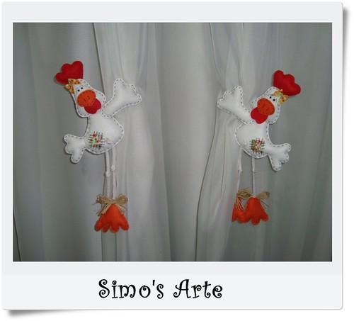 Galinhas segura cortinas by Artes by Simo's®
