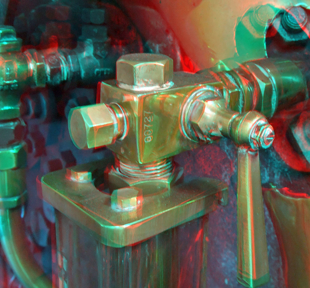 Lake Bala Steam Railway In Anaglyph 3D Stereo Red Blue