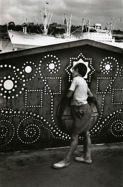 Galata Bridge, Istanbul, by Marc Riboud 1955