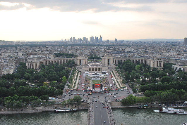 View from up the Eiffel Tower