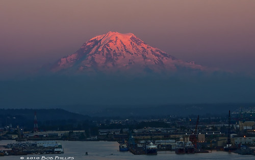 sky mountain snow washington tacoma mtrainier alpenglow northwestpacific topazdenoise3