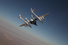 VSS Enterprise first manned flights over Mojave. Photo by Mark Greenberg