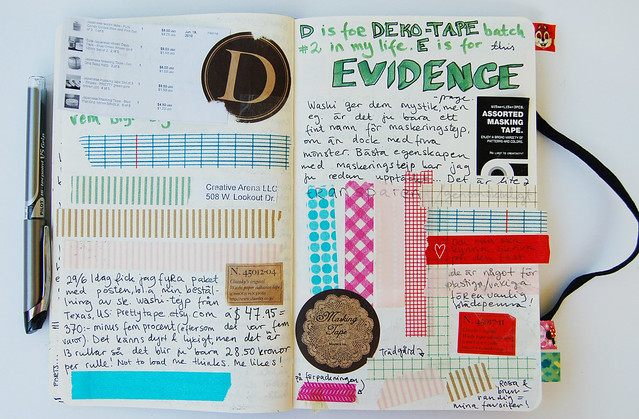 Evidence page in my Diary