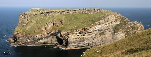 Tintagel Castle and Island, North Cornwall by Stocker Images
