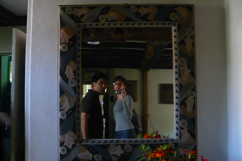 Me and Claudia in Virginia Woolf's house