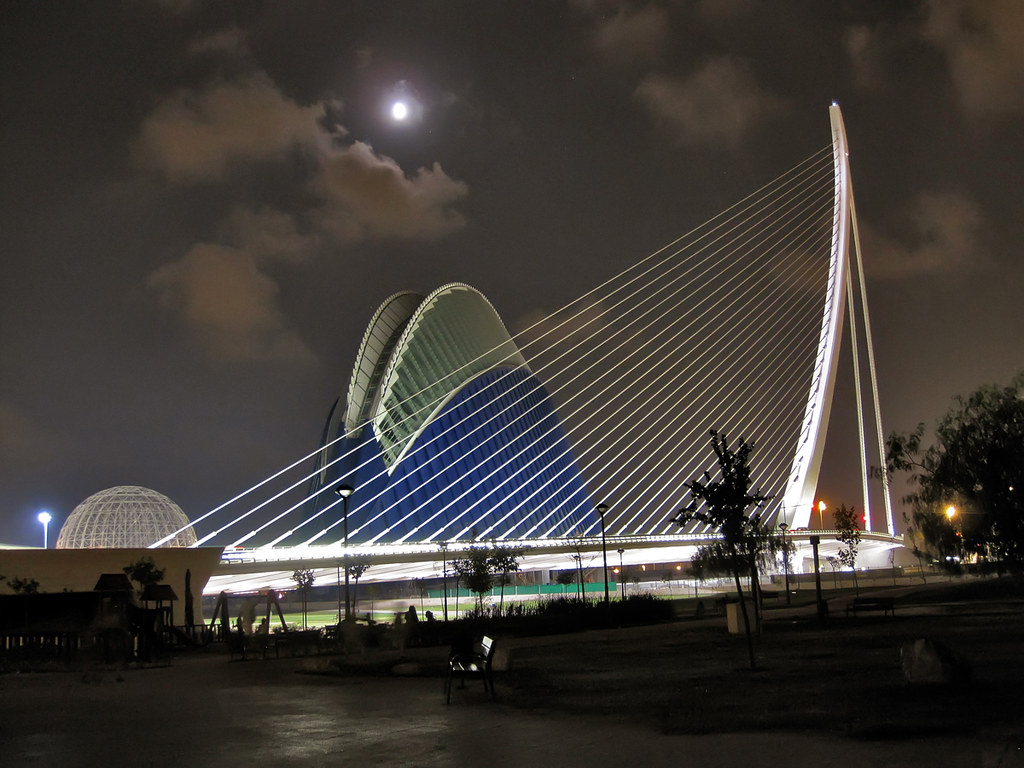 Bridge in The City of Arts and Sciences area, Valencia Spain