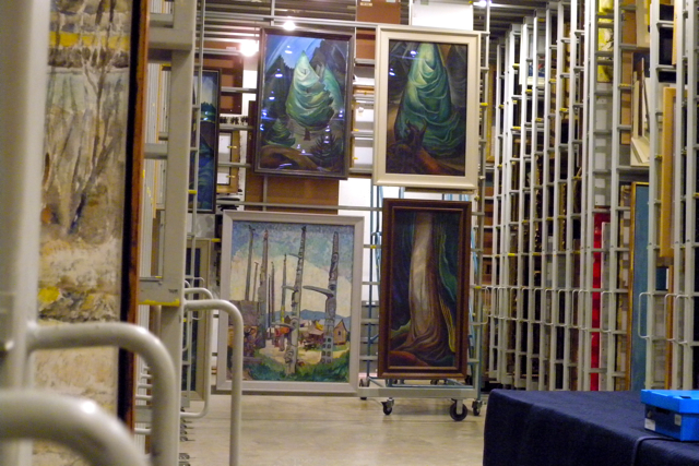 Emily Carr works in storage