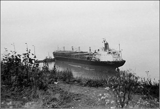 Ship aground at Penarth