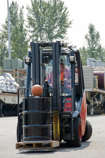 Forklift Rodeo Tests Safety Skills Speed And Precision