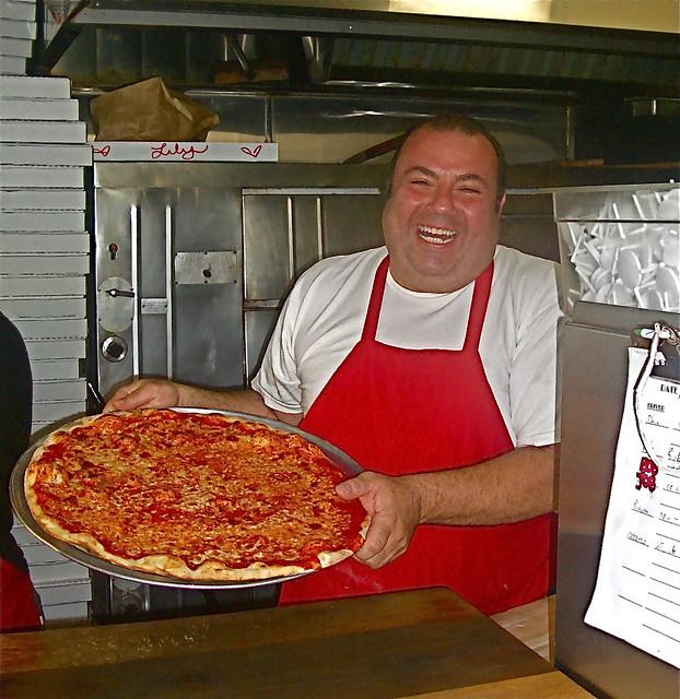 Vito Di Donato with a fresh pie