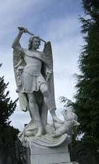 Archangel Michael slaying the Dragon - Glasnevin Cemetery, Dublin (c.1900)