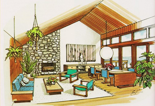 Flickr the 1970 39 s interior design and residential for Pool design 1970
