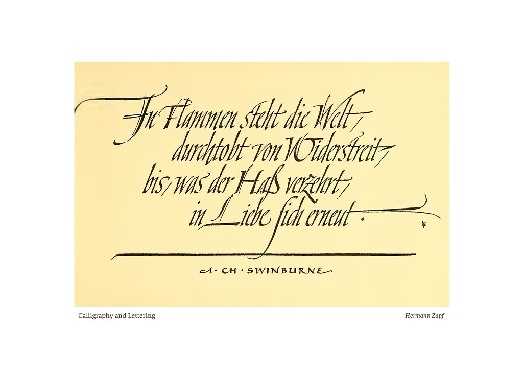 Calligraphy And Lettering Hermann Zapf Ii Found In A