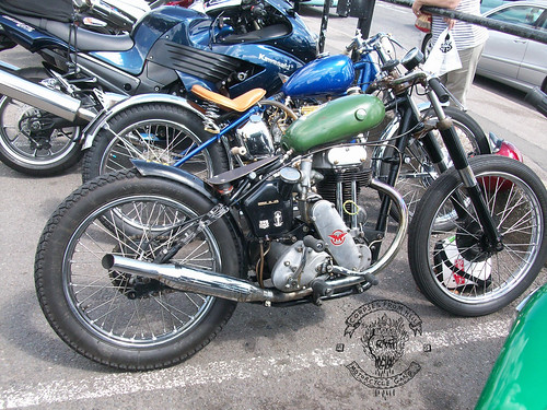 matchless custom at the ace cafe