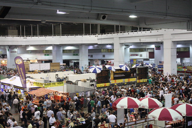 looking below at the great british beer festival