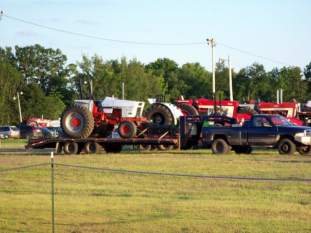 Tractor Pulling Trailer : Tractor pull tractors on trailers clark county fair