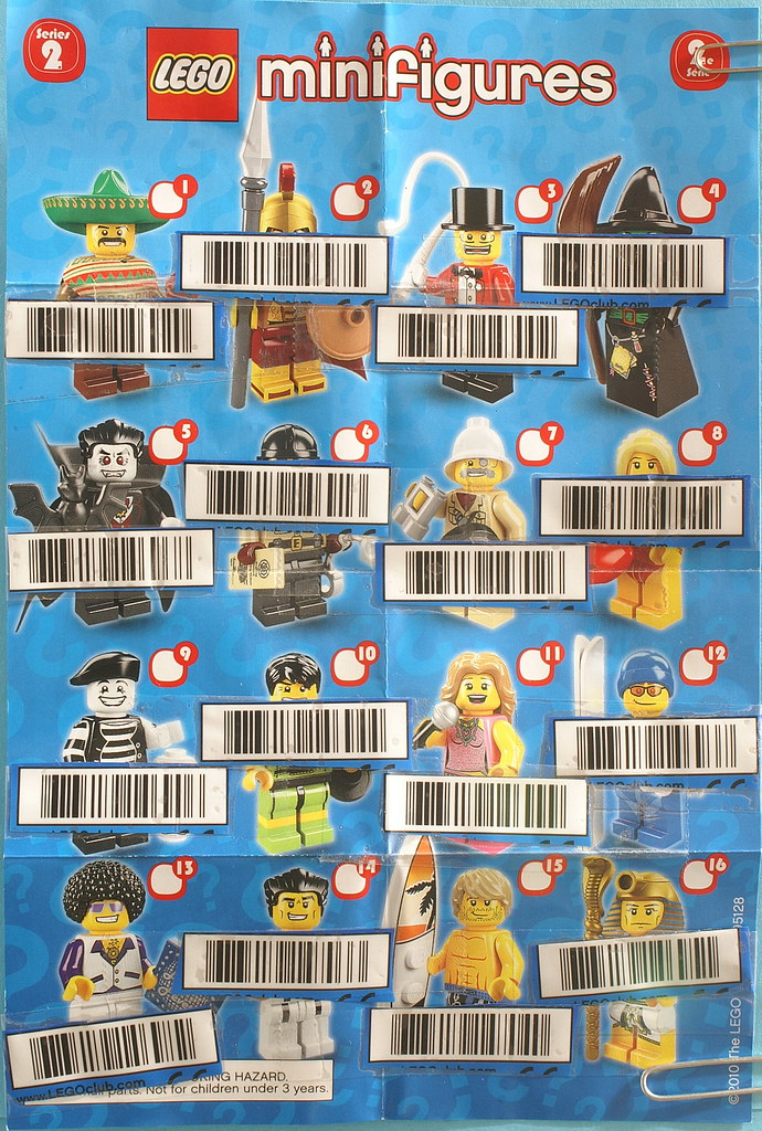 Minifigs Series 2 Barcodes North America